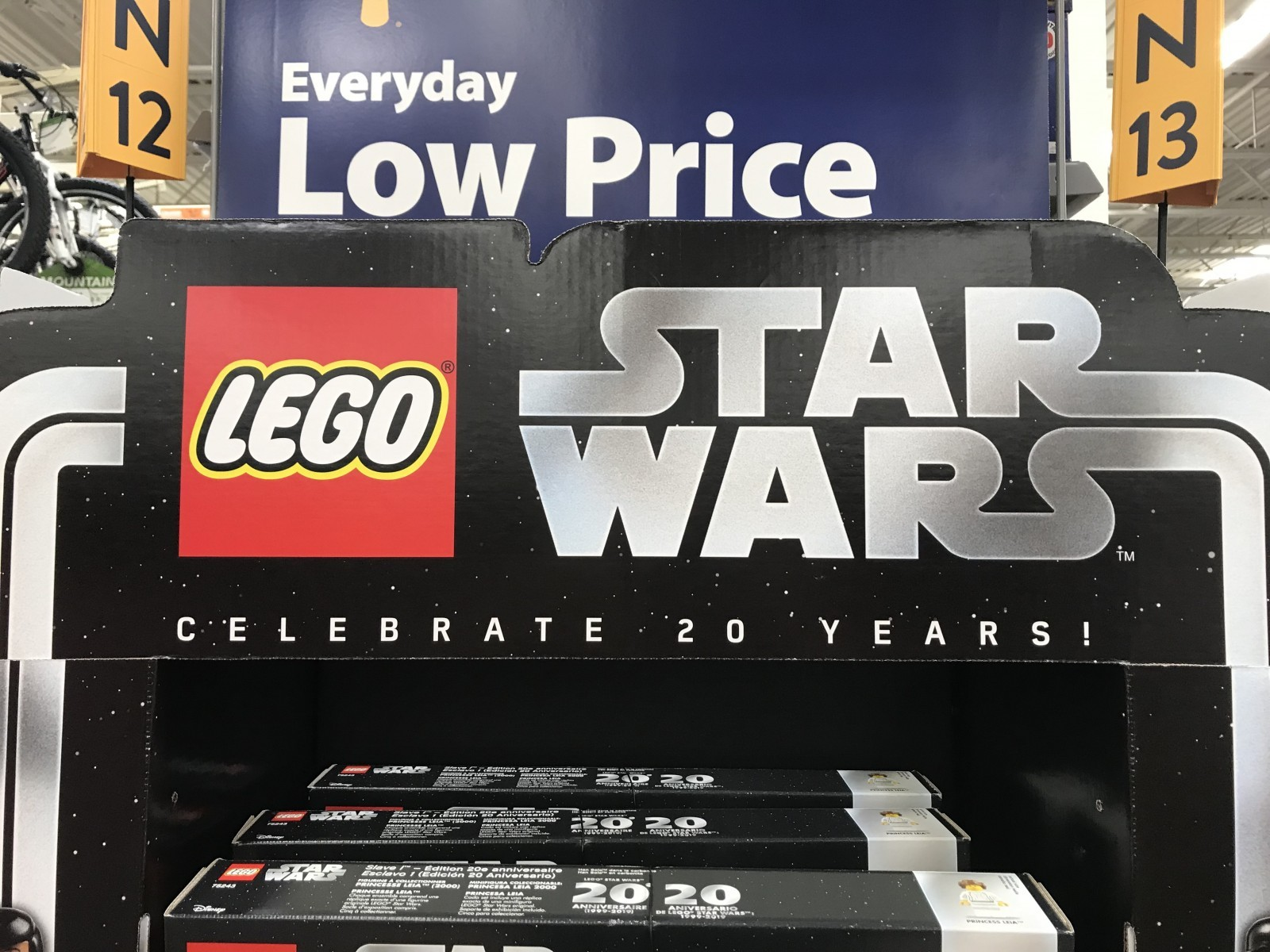 Lego 20th Anniversary Feature End Cap At Walmart